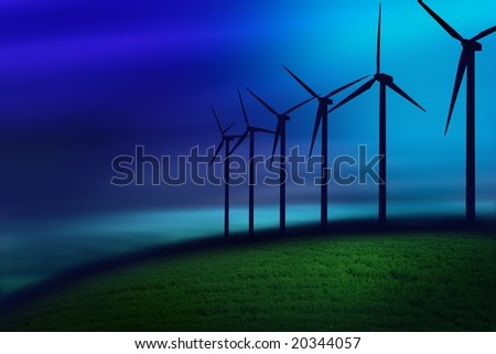 fog on turbines