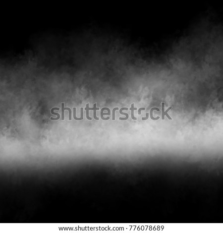 Fog, smoke and mist effect on black background.