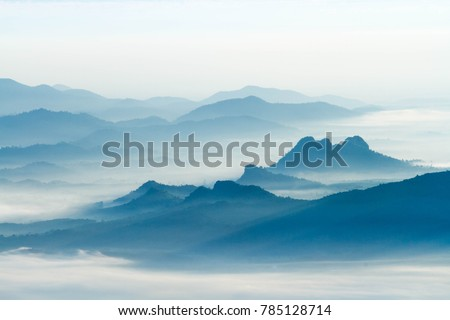 Foggy and mountain #785128714