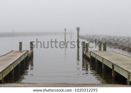 Foggy boat launch #1020312295
