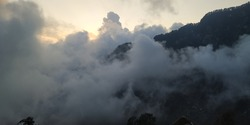 Foggy Clouds over Mountains, Himachal Pradesh