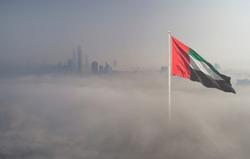 Foggy day in Abu Dhabi City