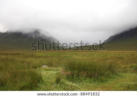 Foggy day in the Scottish highlands