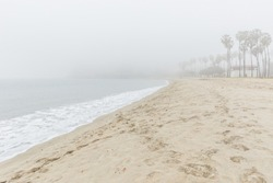 Foggy landscape in Cabrillo Beach-San Pedro, California