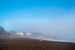 Foggy ocean view along the Pacific Coast Highway, California, USA