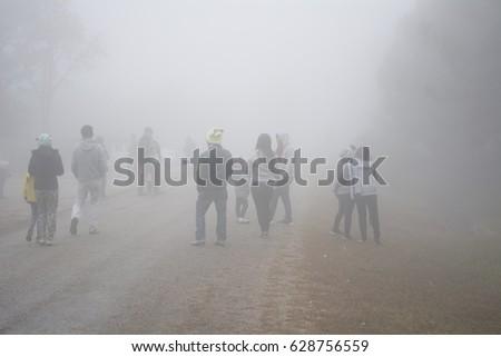Foggy on street  #628756559