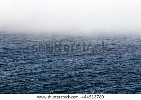 Foggy sea across the North Atlantic Ocean, Background.