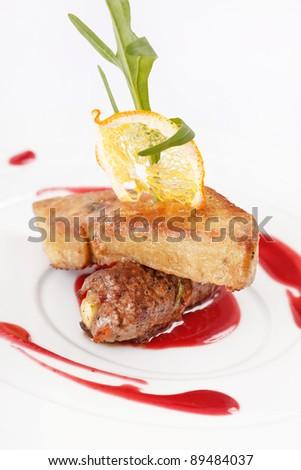 foie gras with sauce