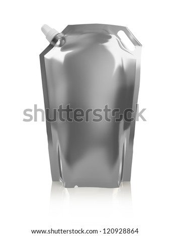 foil packaging ready for your design. isolated over white background