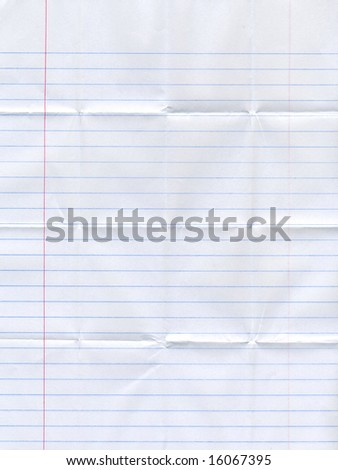 folded lined paper