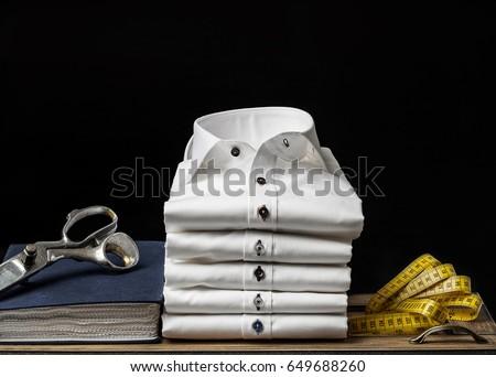 Folded Men's Shirts Foto stock ©