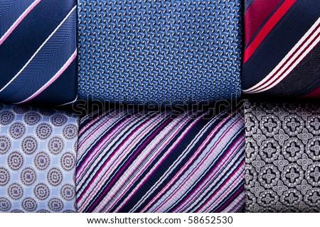folded neckties background