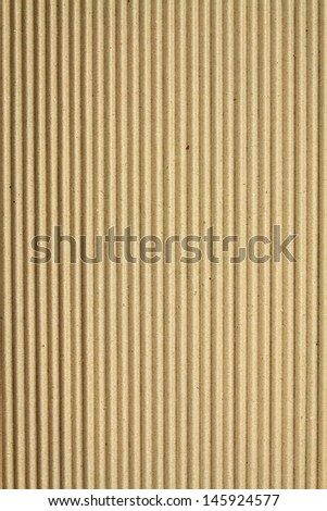 Folded sheet of paper packaging from cardboard with generic