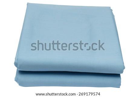Folded sheet on white background