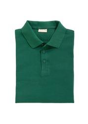 folded shirt green isolated on white background