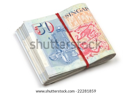 Singapore Dollar Picture on Dollar Notes Rolled Up Australian 5 Dollar Find Similar Images