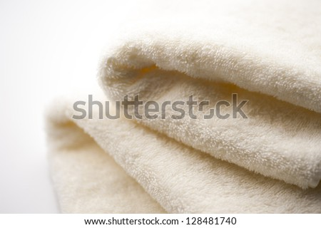 Folded towel