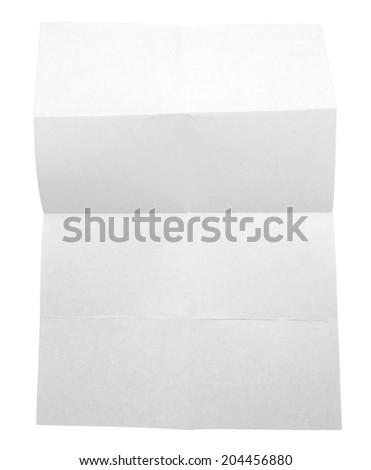 Folded white paper #204456880