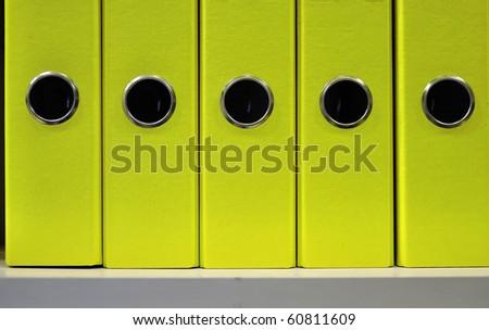 Folder and Folder Stationery orange folder