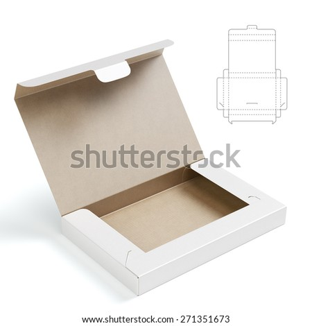 Folder Box with Lock and Die Cut Template