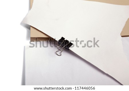 folder cartoon with paper isolated over white background