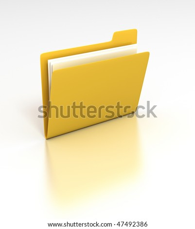 Folder - 3D rendered desktop icon