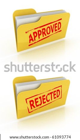 folder icon for approved / rejected documents