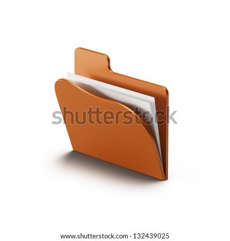 folder icon isolated on white background
