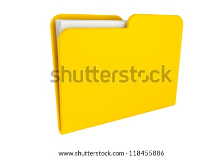 Folder icon with paper on a white background