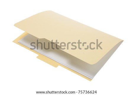 Folder on white Background