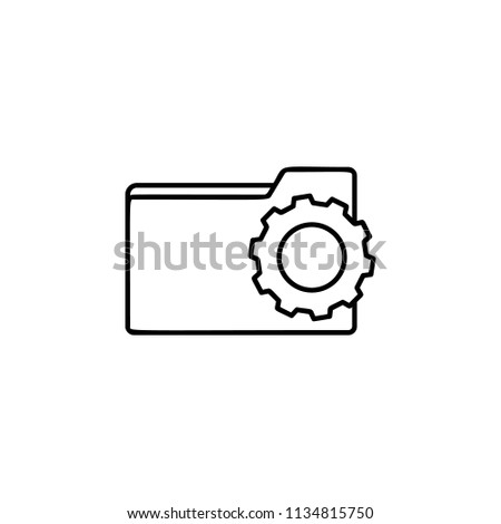 folder setup icon. Element of automation icon for mobile concept and web apps. Thin line folder setup icon can be used for web and mobile. Premium icon on white background