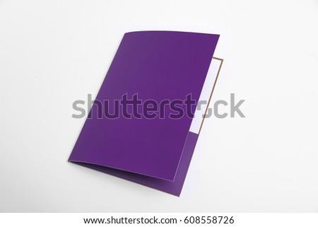 folder template mock up #608558726