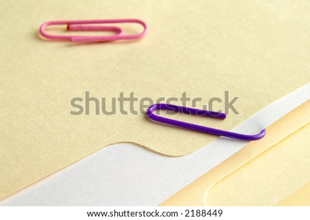 Folder with attached paper