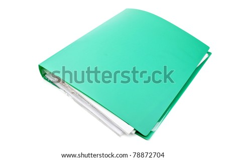 folder with the documents isolated on a white background