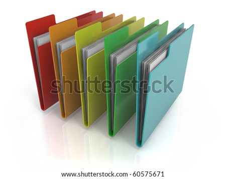 Folders Icon with variations of colors - stock photo