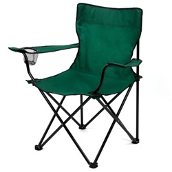folding camp chair isolated on white background.