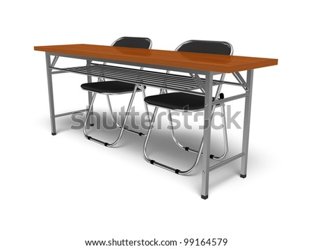 Folding chairs and desk