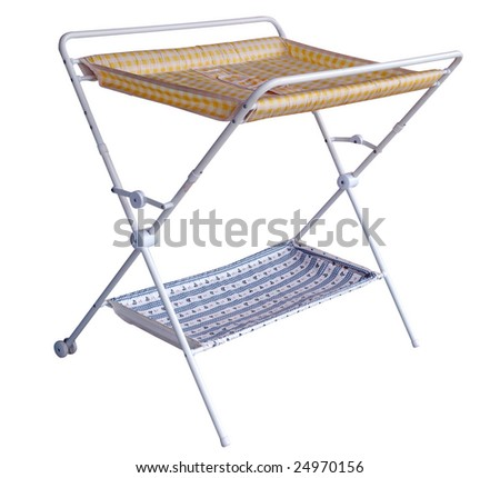 Folding Diaper Changing Table isolated with clipping path