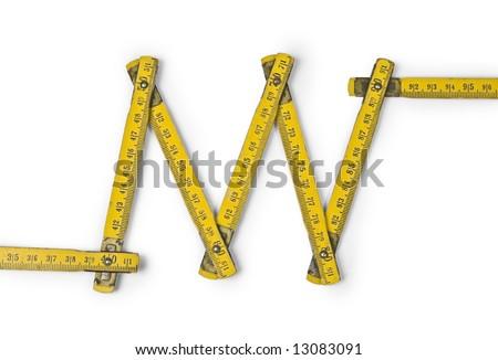 folding ruler zig zag - stock photo