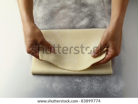 Folding the pastry