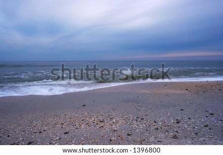 folks swimming before hurricane comes ashore