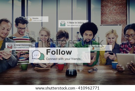 Follow Followers Following Share Sharing Social Concept #410962771