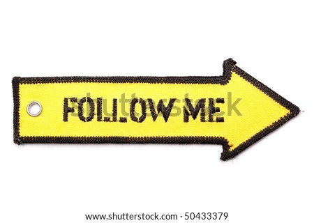 Follow me arrow
