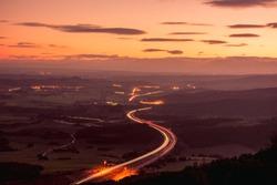 Follow the lights. Sunset highway long exposure shoot.