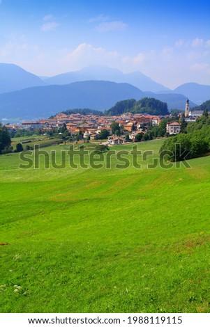 Fondo town in Val di Non valley. Province of Trentino-South Tyrol, Italy. Foto stock ©