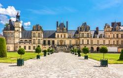 Fontainebleau palace (Chateau de Fontainebleau) in France