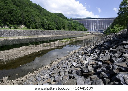 Fontana Dam - on the Little Tennessee River in North Carolina