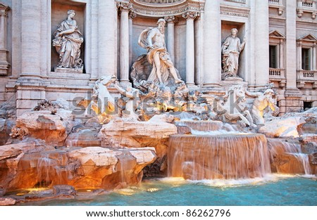 Fontana di Trevi (The Trevi Fountain), Rome, Italy.