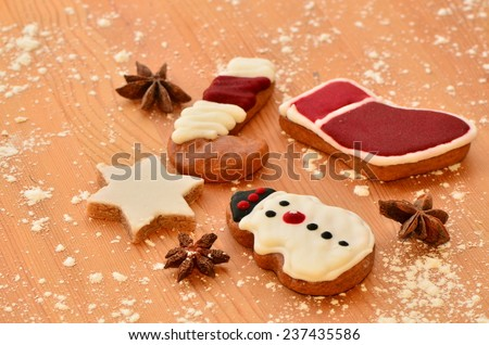 Food and drinks to usher christmas and new year / Holiday celebrations / Merry christmas, happy new year background