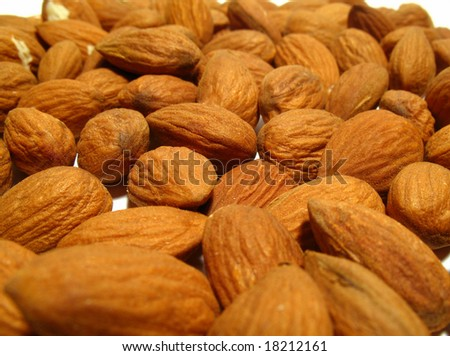 Food background, almond